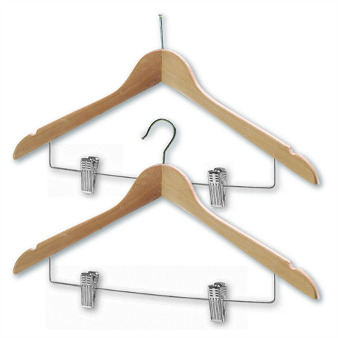 Northmace Hotel Coathangers with Skirt/Trouser Clips (Chrome)
