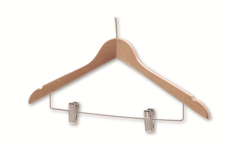 Hotel Coathangers with Skirt/Trouser Clips (Chrome)